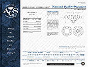 AGS diamond certificate