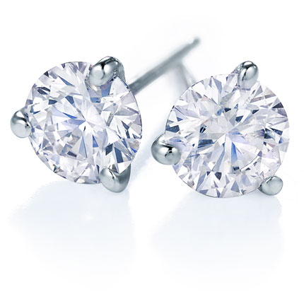Diamond Studs - 3 Prongs