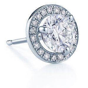 White Gold Pave Style Diamond Studs