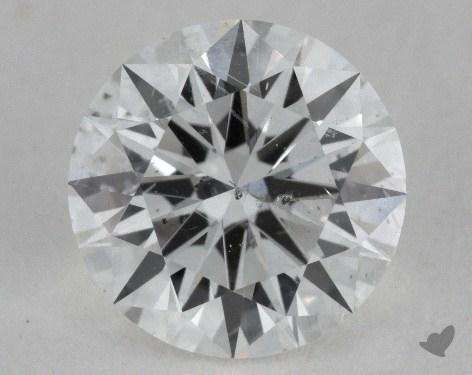 0.95 Carat F-SI2 Ideal Cut Round Diamond 