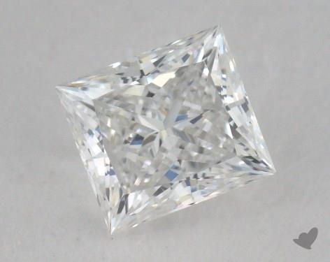 0.58 Carat E-VVS2 Very Good Cut Princess Diamond