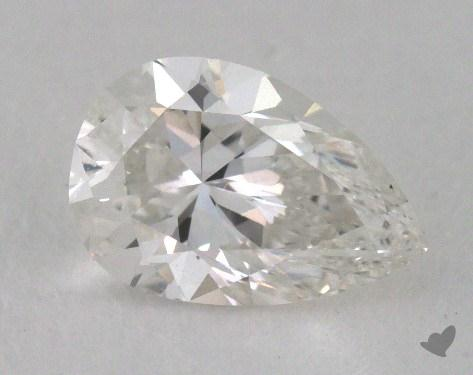 0.60 Carat E-VVS2 Pear Shape Diamond