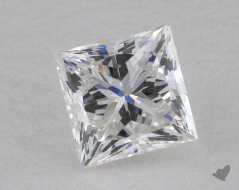 0.53 Carat F-VVS2 Ideal Cut Princess Diamond
