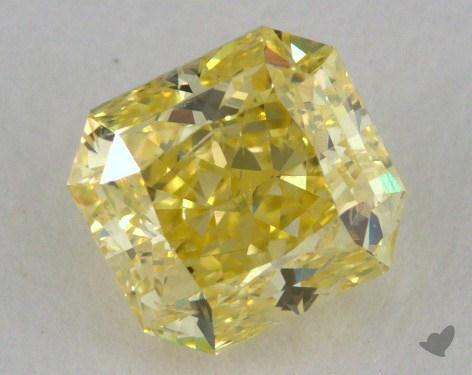 0.92 Carat fancy yellow-SI2 Radiant Cut Diamond