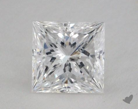 1.52 Carat D-SI2 Ideal Cut Princess Diamond