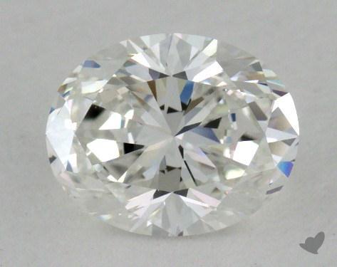 1.00 Carat F-VVS2 Oval Cut Diamond