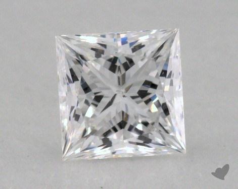 0.57 Carat D-SI1 Ideal Cut Princess Diamond