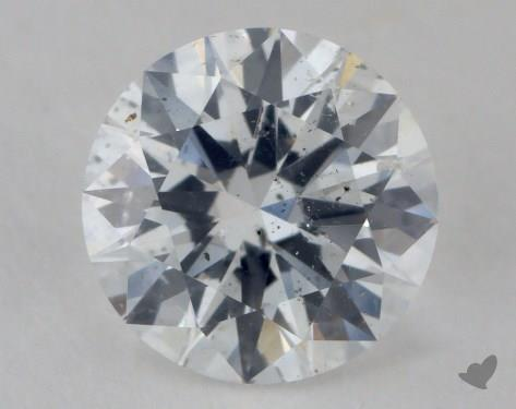 0.89 Carat D-I1 Very Good Cut Round Diamond