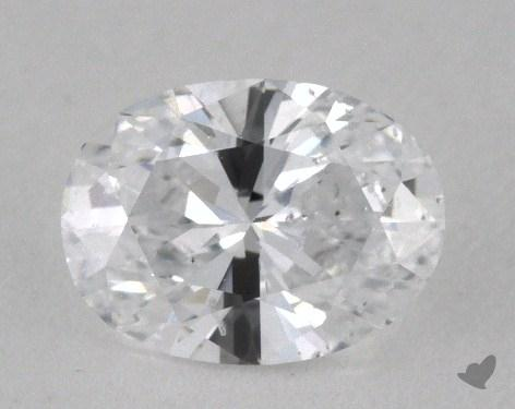 0.84 Carat D-SI2 Oval Cut Diamond