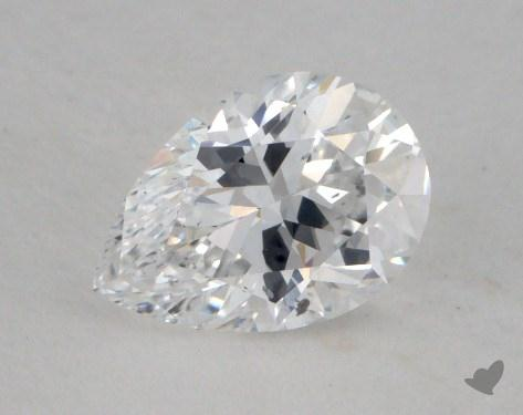 0.72 Carat D-SI1 Pear Shaped  Diamond