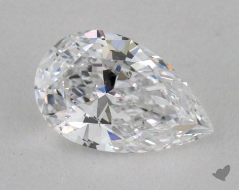 0.93 Carat D-SI1 Pear Cut Diamond