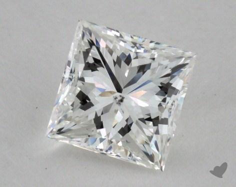 1.28 Carat F-SI1 Ideal Cut Princess Diamond