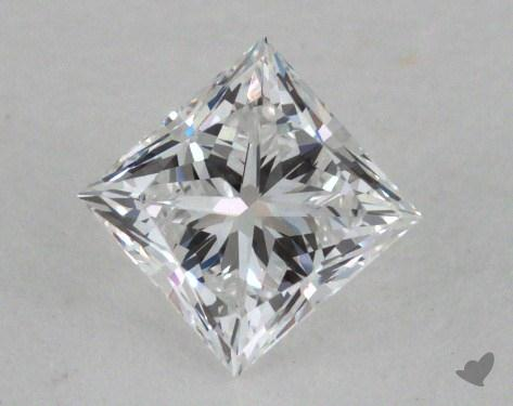0.45 Carat E-VS2 Ideal Cut Princess Diamond