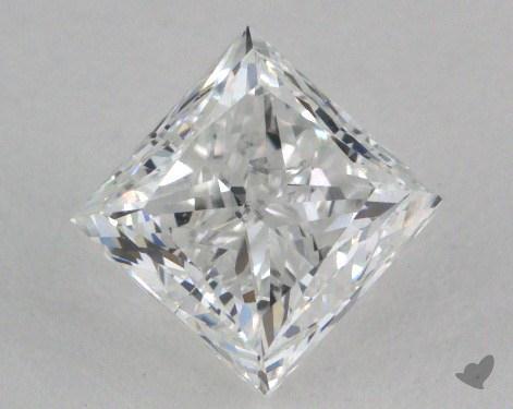 0.91 Carat F-SI2 Good Cut Princess Diamond