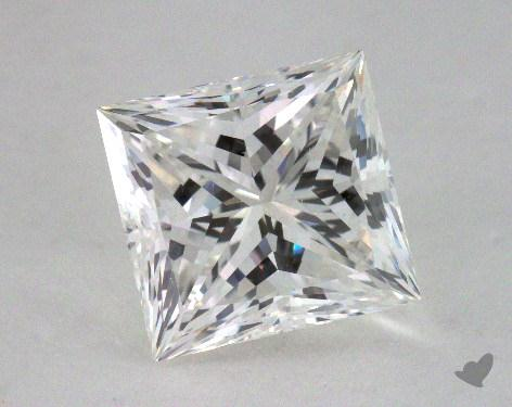 2.54 Carat H-VS1 Ideal Cut Princess Diamond