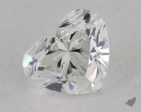 0.90 Carat F-SI1 Heart Cut Diamond
