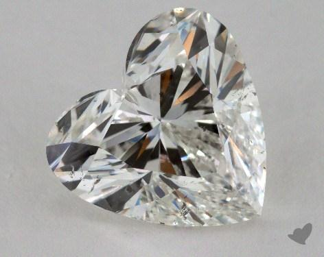 5.01 Carat G-SI2 Heart Cut Diamond 