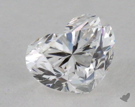 0.70 Carat E-VVS2 Heart Cut Diamond