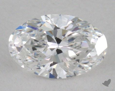 0.36 Carat D-VVS1 Oval Cut Diamond