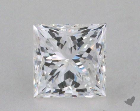 0.79 Carat E-VVS2 Very Good Cut Princess Diamond