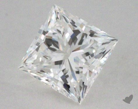 0.51 Carat F-SI1 Ideal Cut Princess Diamond