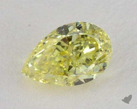 1.90 Carat fancy intense yellow-VS1 Pear Shaped  Diamond