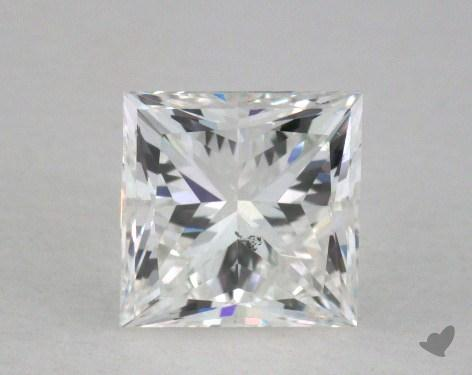0.91 Carat H-SI1 Very Good Cut Princess Diamond