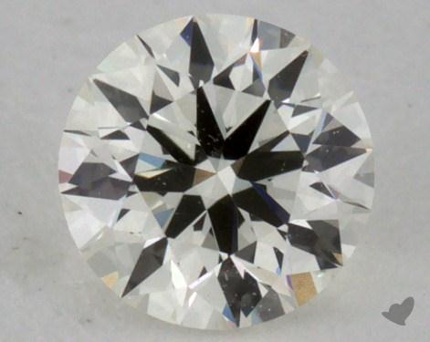 0.37 Carat I-VVS1 Ideal Cut Round Diamond