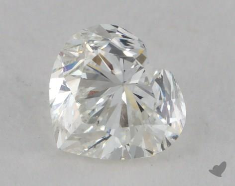 0.90 Carat H-SI1 Heart Shape Diamond