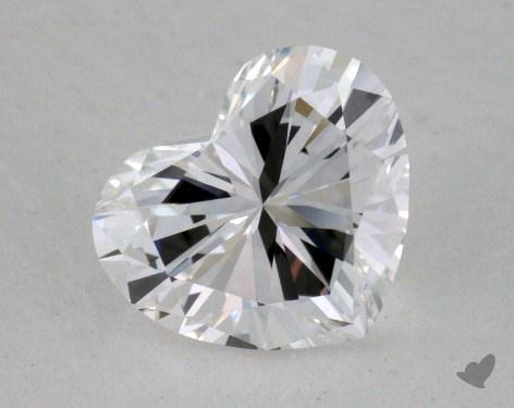 0.77 Carat D-IF Heart Cut Diamond