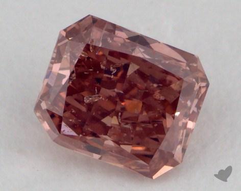 0.61 Carat fancy deep pink Radiant Cut Diamond