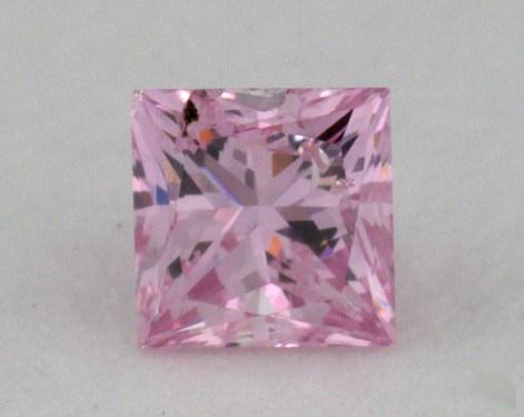 0.18 Carat fancy purplish pink Princess Cut Diamond