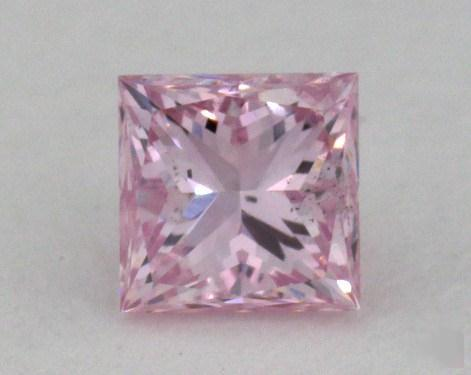 0.17 Carat fancy purplish pink Princess Cut Argyle Diamond