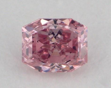 0.20 Carat fancy intense pink Emerald Cut Diamond