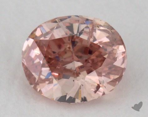 0.43 Carat fancy intense pink Oval Cut Diamond