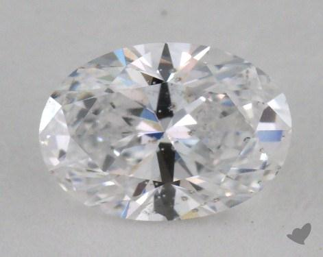 0.78 Carat D-SI2 Oval Cut Diamond
