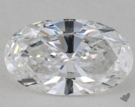 0.77 Carat D-VS2 Oval Cut Diamond