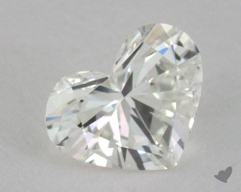 1.12 Carat H-SI1 Heart Cut Diamond 