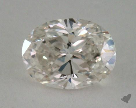 0.93 Carat H-SI1 Oval Cut  Diamond
