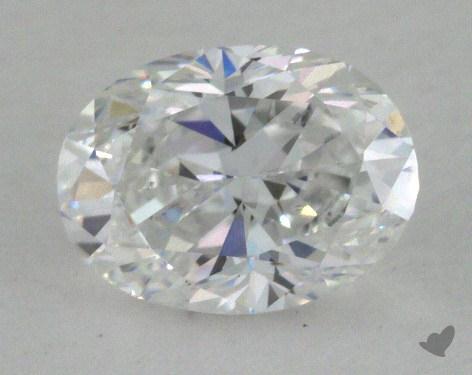 0.71 Carat D-SI1 Oval Cut Diamond