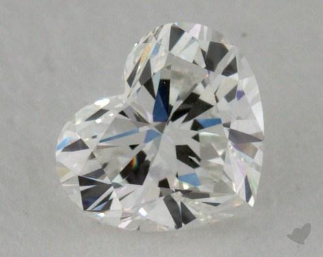 0.72 Carat H-VVS1 Heart Cut Diamond 