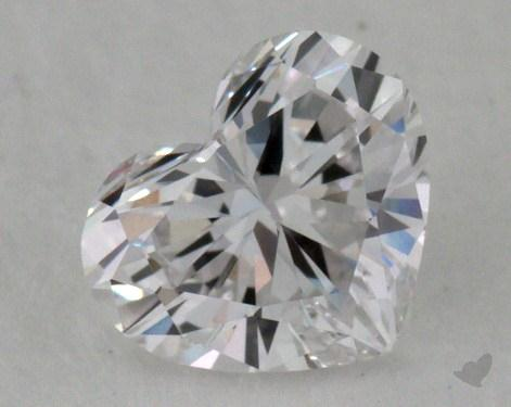 0.61 Carat E-IF Heart Cut Diamond
