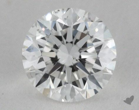 0.91 Carat F-SI1 Very Good Cut Round Diamond