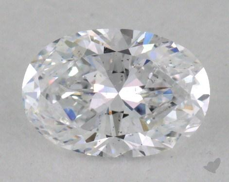 0.69 Carat D-SI2 Oval Cut  Diamond