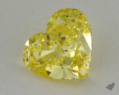 1.02 Carat fancy intense yellow-VS2 Heart Shape Diamond