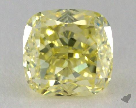 1.02 Carat fancy light yellow-VS1 Cushion Cut Diamond