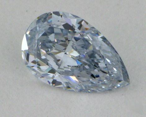 0.25 Carat fancy light blue-VS1 Pear Shape Diamond