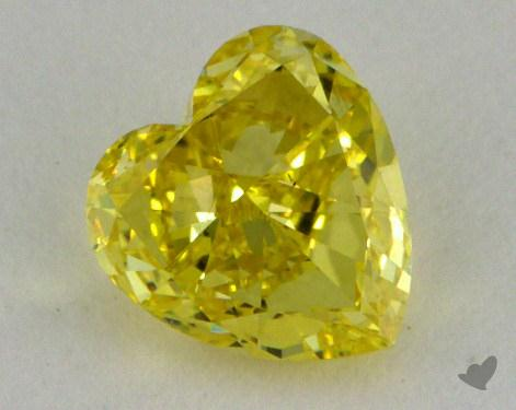 0.56 Carat fancy intense yellow-VS1 Heart Shaped  Diamond
