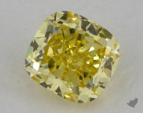 1.01 Carat fancy intense yellow-VS1 Cushion Cut Diamond