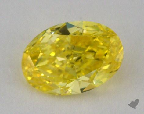 1.01 Carat fancy vivid yellow-IF Oval Cut Diamond